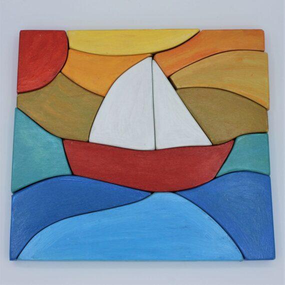 Puzle apilable barco