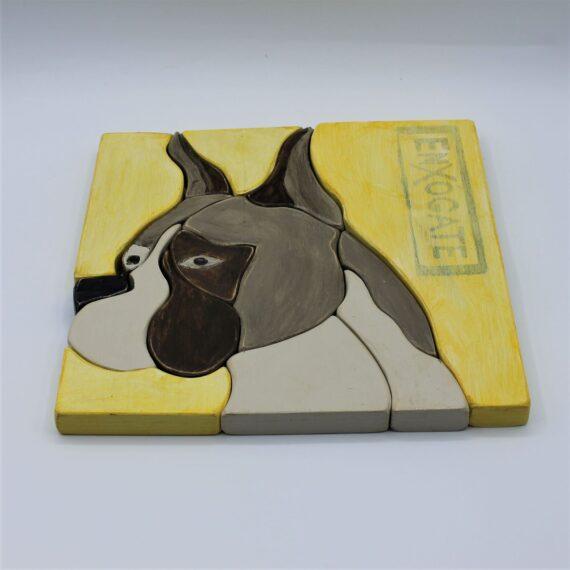 Puzle apilable perro amarillo