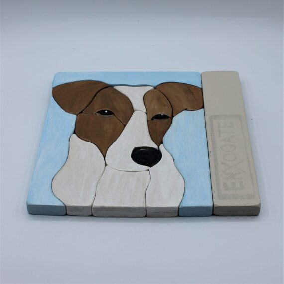 Puzle apilable perro azul